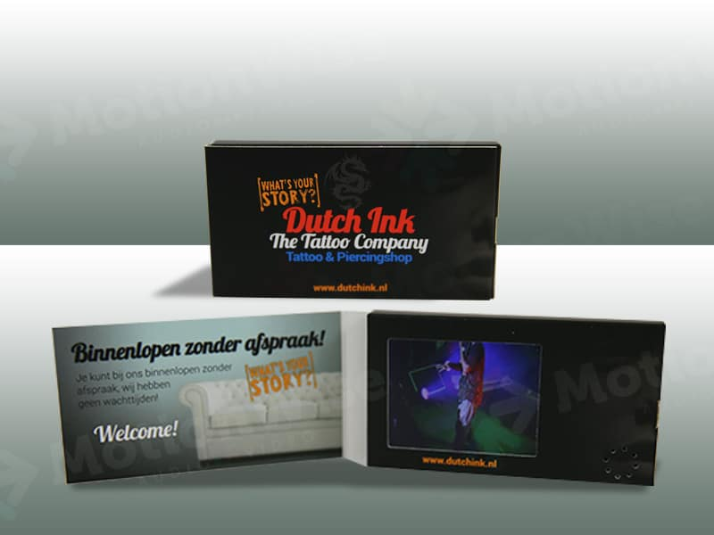 Video business card Dutch ink