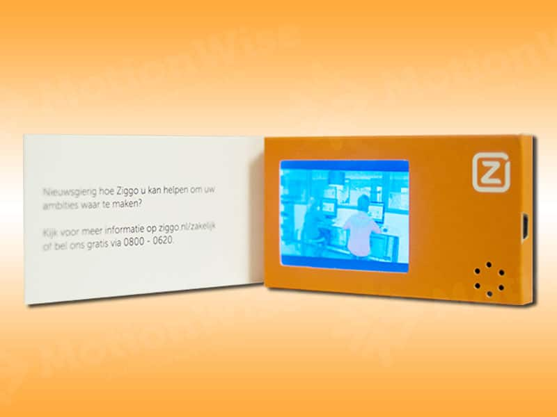 Video business card Ziggo